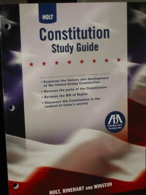 Constitution Study Guide Holt United States History Holt