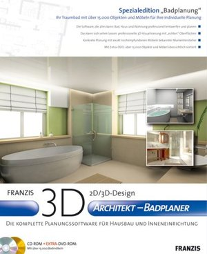 3d architekt badplaner franzis. Black Bedroom Furniture Sets. Home Design Ideas
